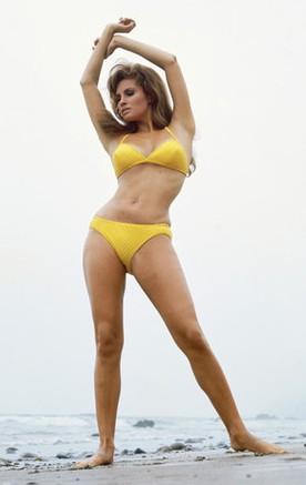 Raquel Welch - Yellow bikini poster