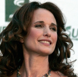 Andie MacDowell at the Save The World Awards show 2009